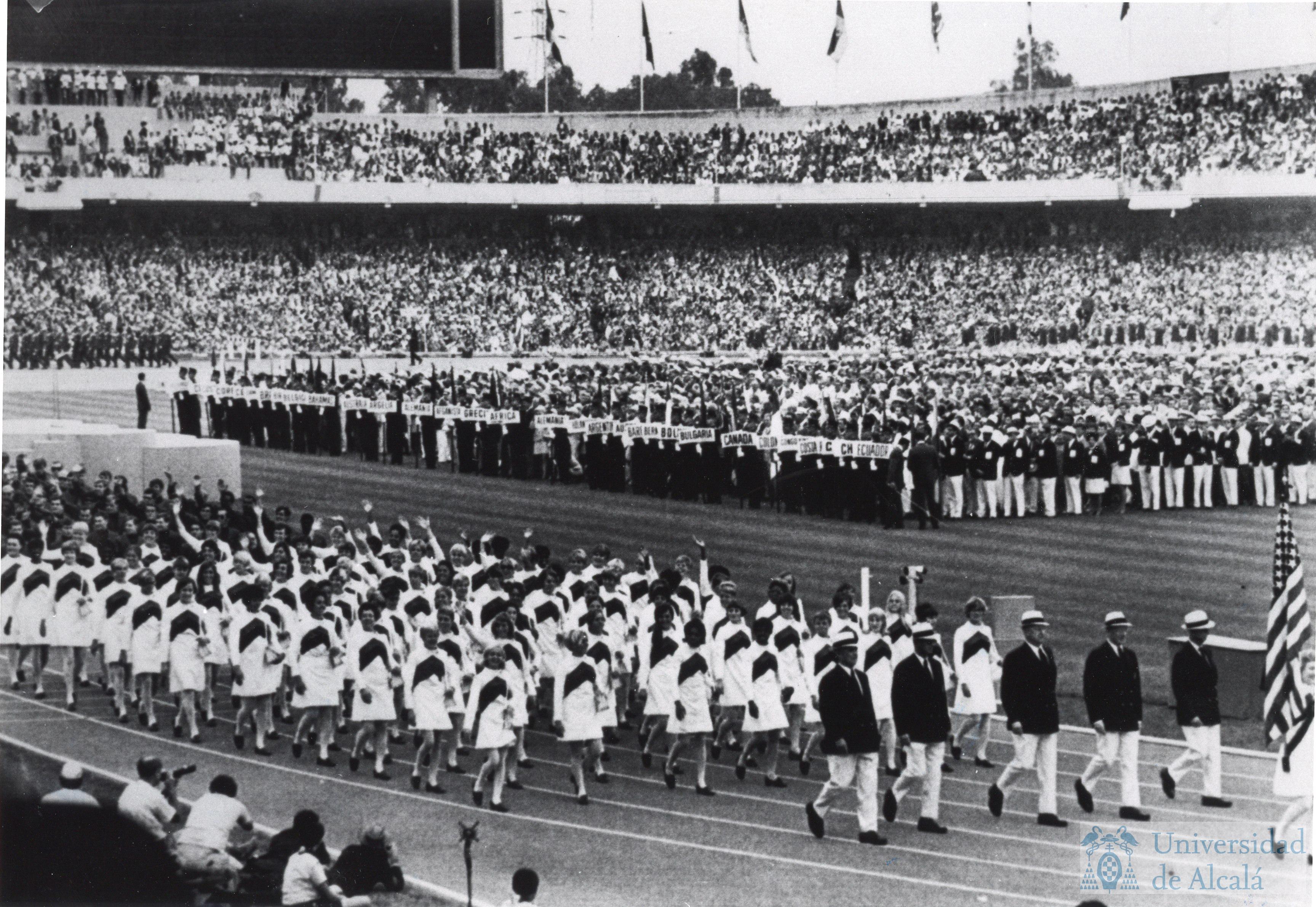 Desfile Americano En La Ceremonia De Apertura De Los Juegos